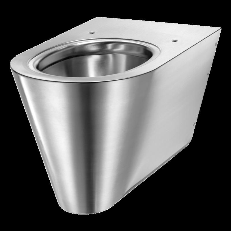 Heno Rostfri WC-stol S21-V